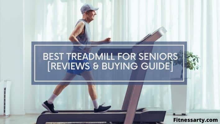 An elderly citizen using a modern treadmill which is specially built for seniors