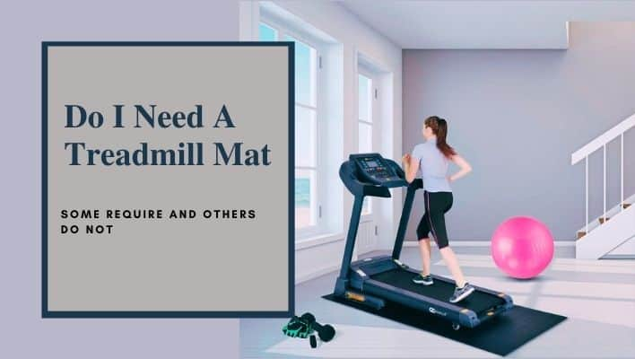 A girl using mat below the treadmill during her daily workout