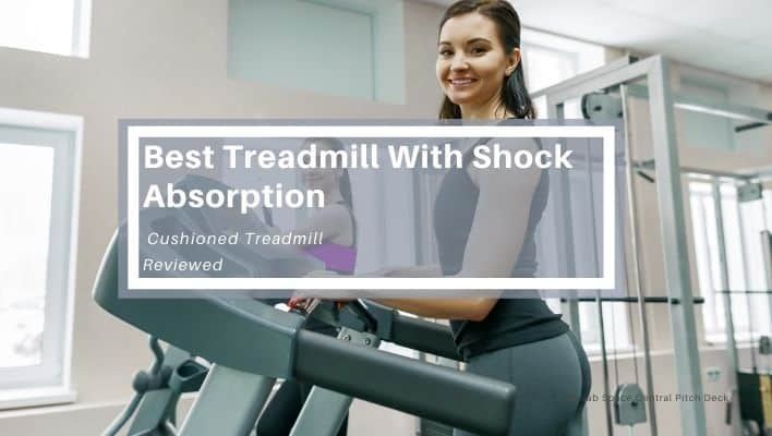 Woman doing her daily workout on the best treadmill with shock absorption capability.